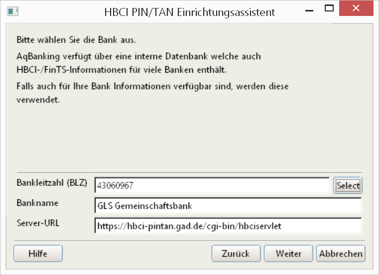 03c aqfinance FinTS Daten PIN und TAN