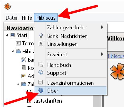 Hibiscus Versionscheck