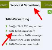 Browser_Banking_optische_TAN_Probleme_TAN-Medium_aendern