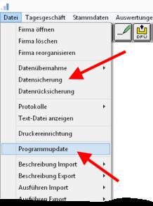 Menue_Profi_cash_Datensicherung_und_Update