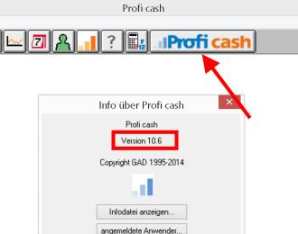 Menue_Profi_cash_Version_herausfinden