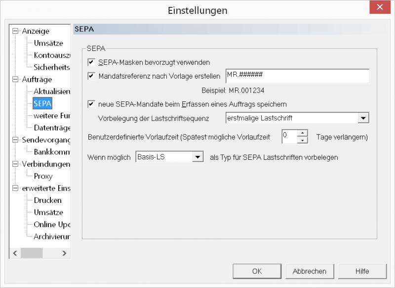 Menue_VRNWS_Menue_Extras_Einstellungen_SEPA