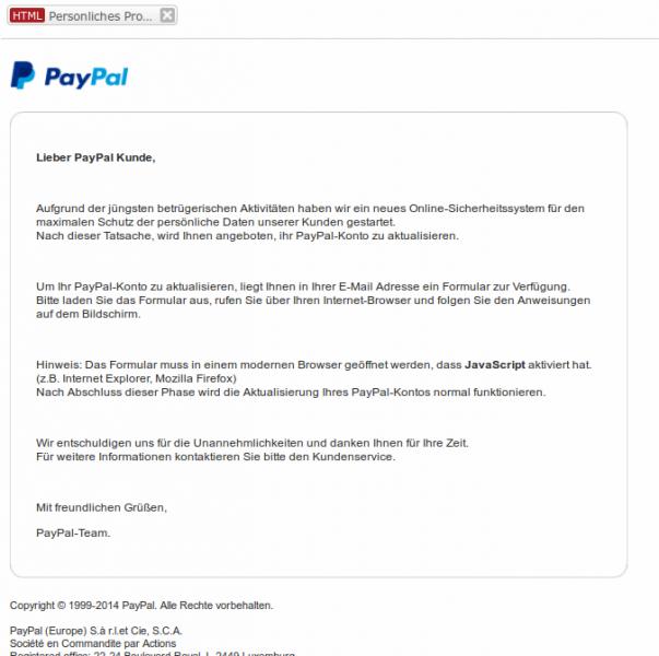 sicherheit paypal com