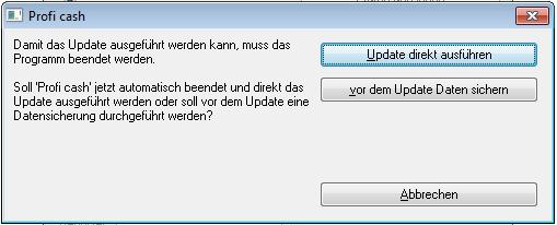 Proficash_Update_Vorgang_Abfrage_Datensicherung