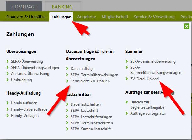 BOF_SEPA-Terminlastschrift_und_ZV-Upload_Menue