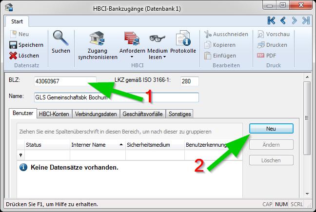 SFIRM_neuer_Bankzugang_02_BLZ_neuer_Benutzer