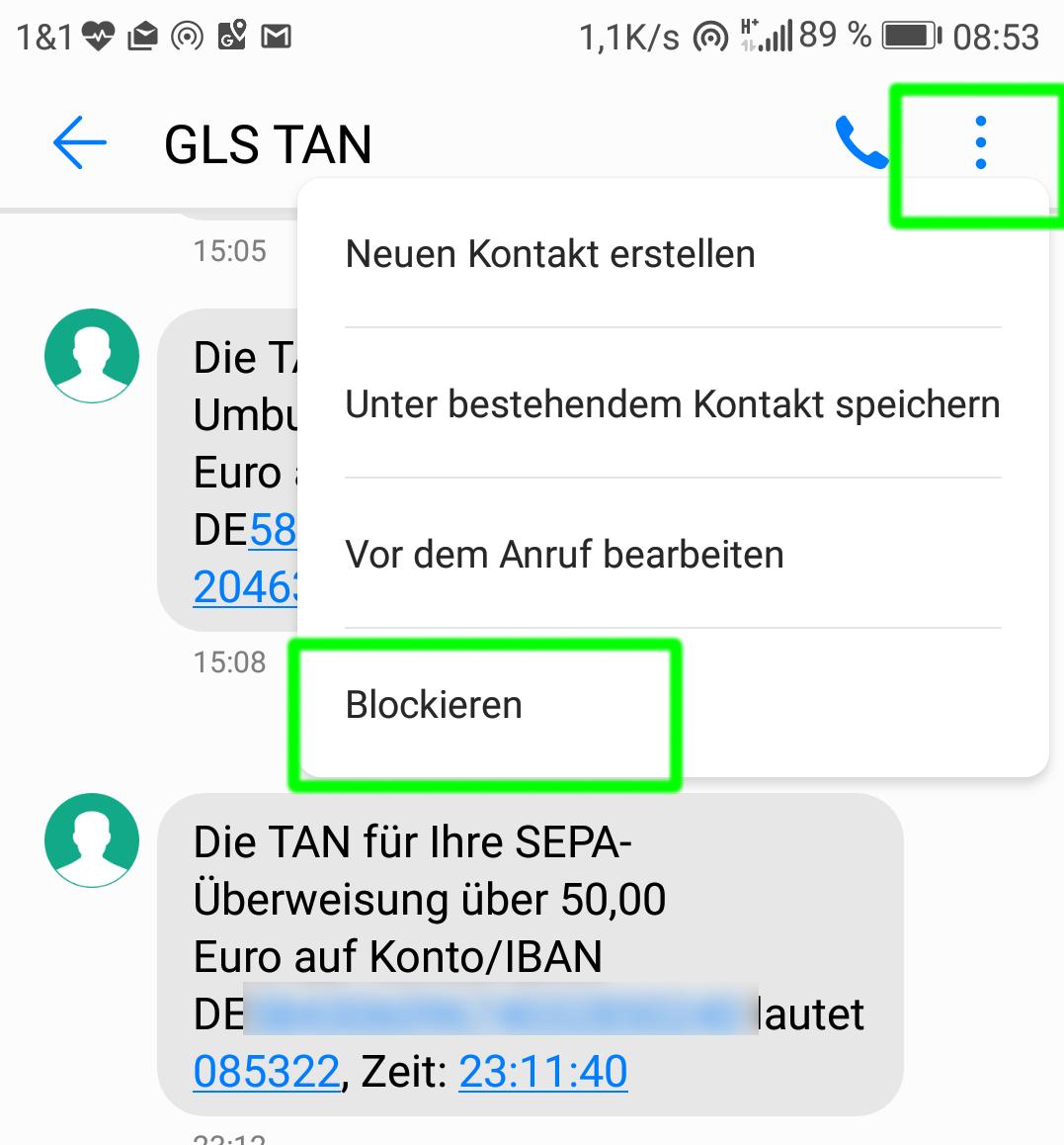Sms Blocken